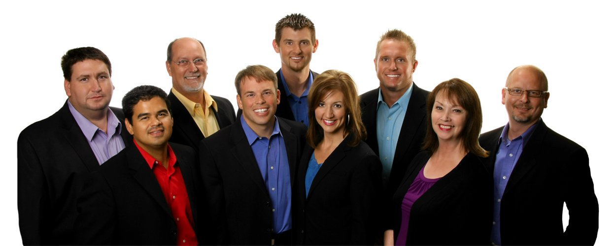 Commercial photo of business people